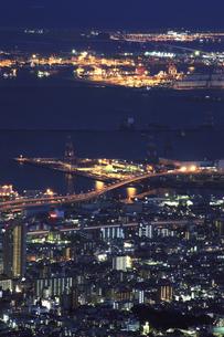 六甲山山頂からの夜景の写真素材 [FYI04144364]