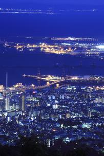 六甲山山頂からの夜景の写真素材 [FYI04144365]
