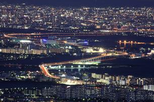 六甲山山頂からの夜景の写真素材 [FYI04144367]