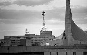 原宿・代々木競技場とNHKの写真素材 [FYI04145503]