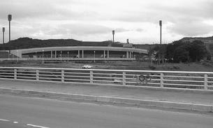 札幌冬季オリンピックの建設進む真駒内オリンピック競技場の写真素材 [FYI04145808]