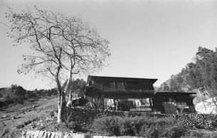 奥多摩・小菅村,民家の写真素材 [FYI04145851]
