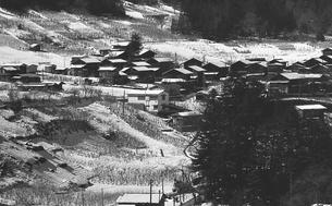 奥多摩,厳冬の丹波山村の写真素材 [FYI04145903]