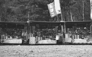 奥多摩湖,湖畔の店の写真素材 [FYI04145986]
