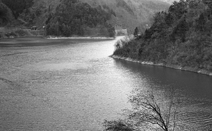 奥多摩湖,の写真素材 [FYI04145999]