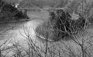 奥多摩湖,の写真素材 [FYI04146002]