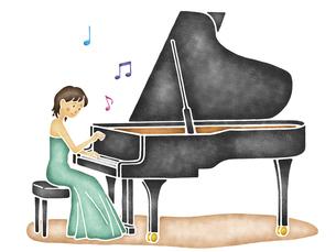 ピアノ演奏のイラスト素材 [FYI04150078]