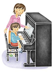 ピアノ教室のイラスト素材 [FYI04150079]