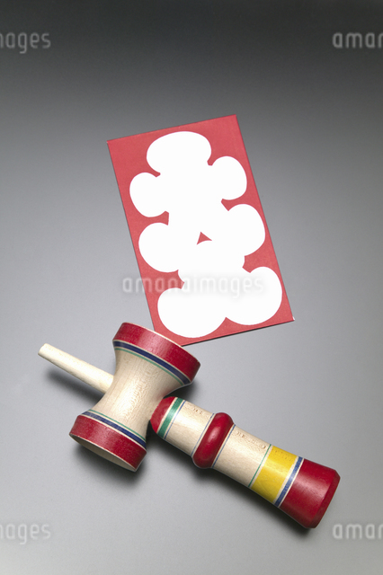 大入り袋と拳玉の写真素材 [FYI04153095]
