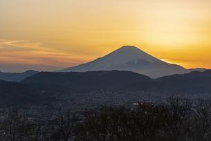 富士山と夕景 ②の写真素材 [FYI04153239]