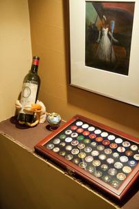 ワインボトルの蓋の写真素材 [FYI04154621]