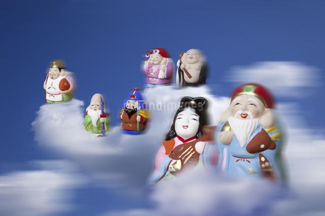 空飛ぶ七福神の写真素材 [FYI04158975]