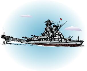 戦艦大和のイラスト素材 [FYI04160379]