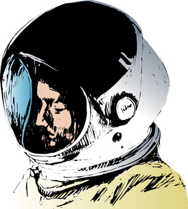 宇宙飛行士のイラスト素材 [FYI04160438]