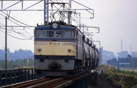 上越線 EF60電気機関車牽引貨物列車の写真素材 [FYI04160752]