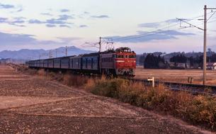 常磐線 ED75電気機関車牽引普通列車の写真素材 [FYI04160776]
