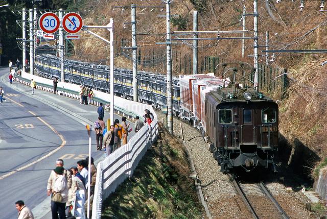 ED16 3号電気機関車牽引の貨物列車の写真素材 [FYI04160933]