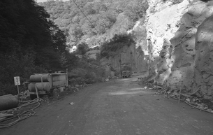 晩秋の丹波山村の写真素材 [FYI04161032]