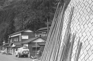 初冬の丹波山村の写真素材 [FYI04161046]
