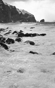 厳冬の天売島の写真素材 [FYI04161360]