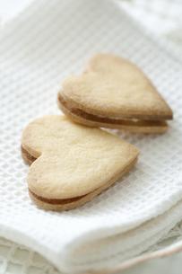 ハート型のクッキーの写真素材 [FYI04162329]