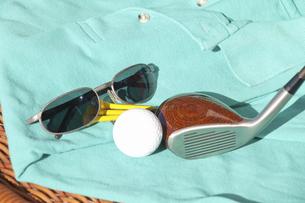 ゴルフ用品とゴルフウェアの写真素材 [FYI04164182]