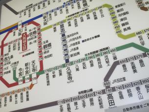 JR西日本在来線の路線図の写真素材 [FYI04164823]