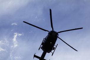 ジェットヘリのシルエットの写真素材 [FYI04165454]
