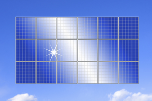 ソーラーパネルの写真素材 [FYI04167650]