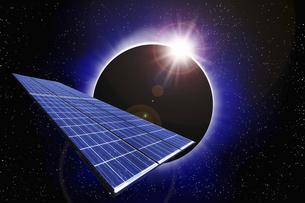 宇宙とソーラーパネルの写真素材 [FYI04169039]