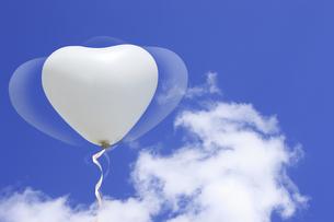 白い風船の写真素材 [FYI04169175]
