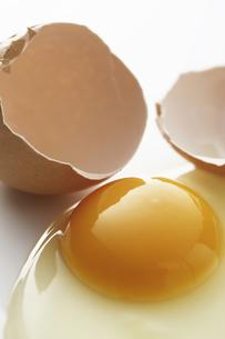 生卵と殻の写真素材 [FYI04170057]