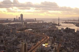 大阪ベイエリアの町並みの写真素材 [FYI04171187]