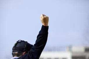 野球審判のストライクコールの写真素材 [FYI04171237]