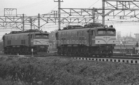 鉄道 国鉄・東北本線 東大宮機関車区 EF58電気機関車の写真素材 [FYI04172884]