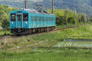 日本の鉄道、和歌山線105系の写真素材 [FYI04176343]