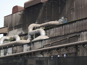工場の非常階段の写真素材 [FYI04176530]
