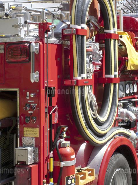 消防自動車のアップの写真素材 [FYI04177041]