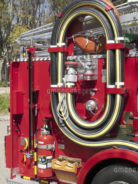 消防自動車のアップの写真素材 [FYI04177042]