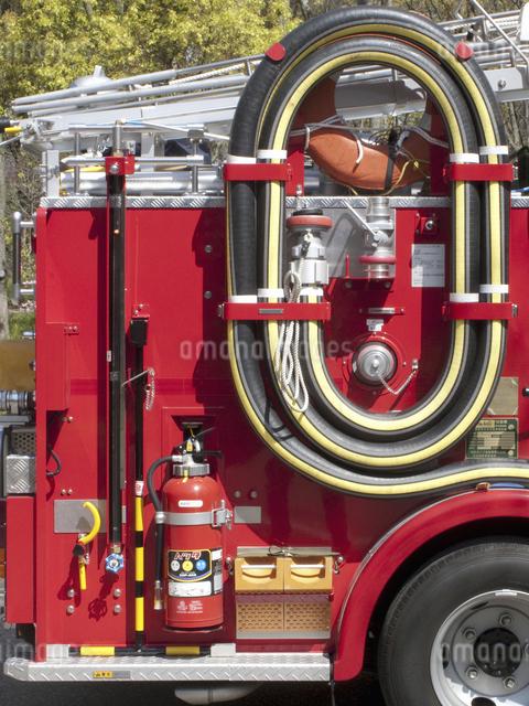 消防自動車のアップの写真素材 [FYI04177043]
