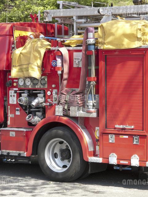 消防自動車のアップの写真素材 [FYI04177046]