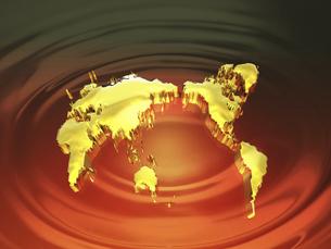 黄金の世界地図の写真素材 [FYI04177457]