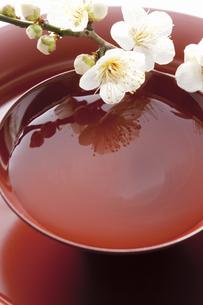 梅の花と杯の写真素材 [FYI04179005]