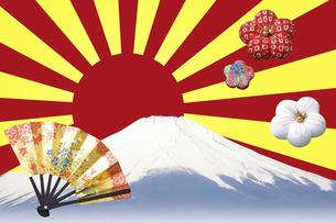富士山と扇の写真素材 [FYI04179188]