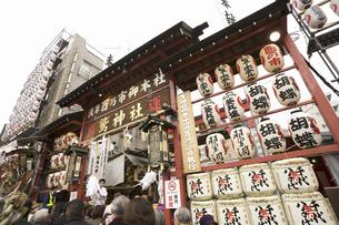 浅草 鷲神社の酉の市の写真素材 [FYI04180115]
