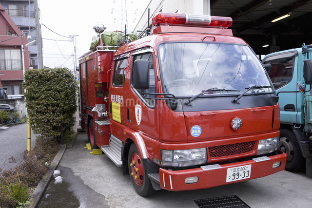 消防自動車の写真素材 [FYI04180362]
