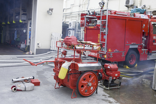 消防ポンプの写真素材 [FYI04180363]