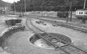 鉄道 私鉄・大井川鉄道井川線転車台の写真素材 [FYI04183952]