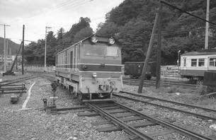鉄道 私鉄・大井川鉄道井川線DD20形ディーゼル機関車の写真素材 [FYI04183954]