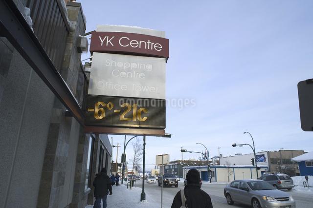 イエローナイフの温度計の写真素材 [FYI04185073]